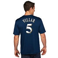 Men's Majestic Milwaukee Brewers Jonathan Villar Player Name and Number Tee