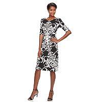 Women's Connected Apparel Scroll Sheath Dress