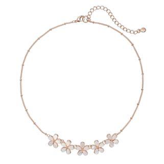 LC Lauren Conrad Mother-of-Pearl Flower Necklace