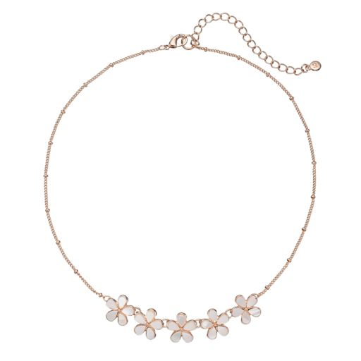 LC Lauren Conrad Mother-of-Pearl Flower Necklace