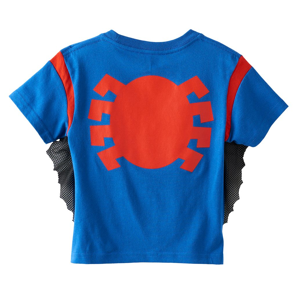 Toddler Boy Marvel Spider-Man Puffy Character Tee