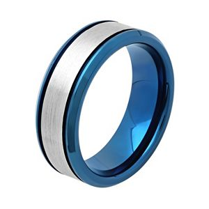 Men's Two Tone Stainless Steel Wedding Band