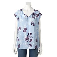 Women's SONOMA Goods for Life™ Floral Splitneck Top