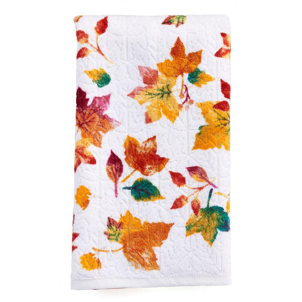 Celebrate Together Printed Leaves Hand Towel