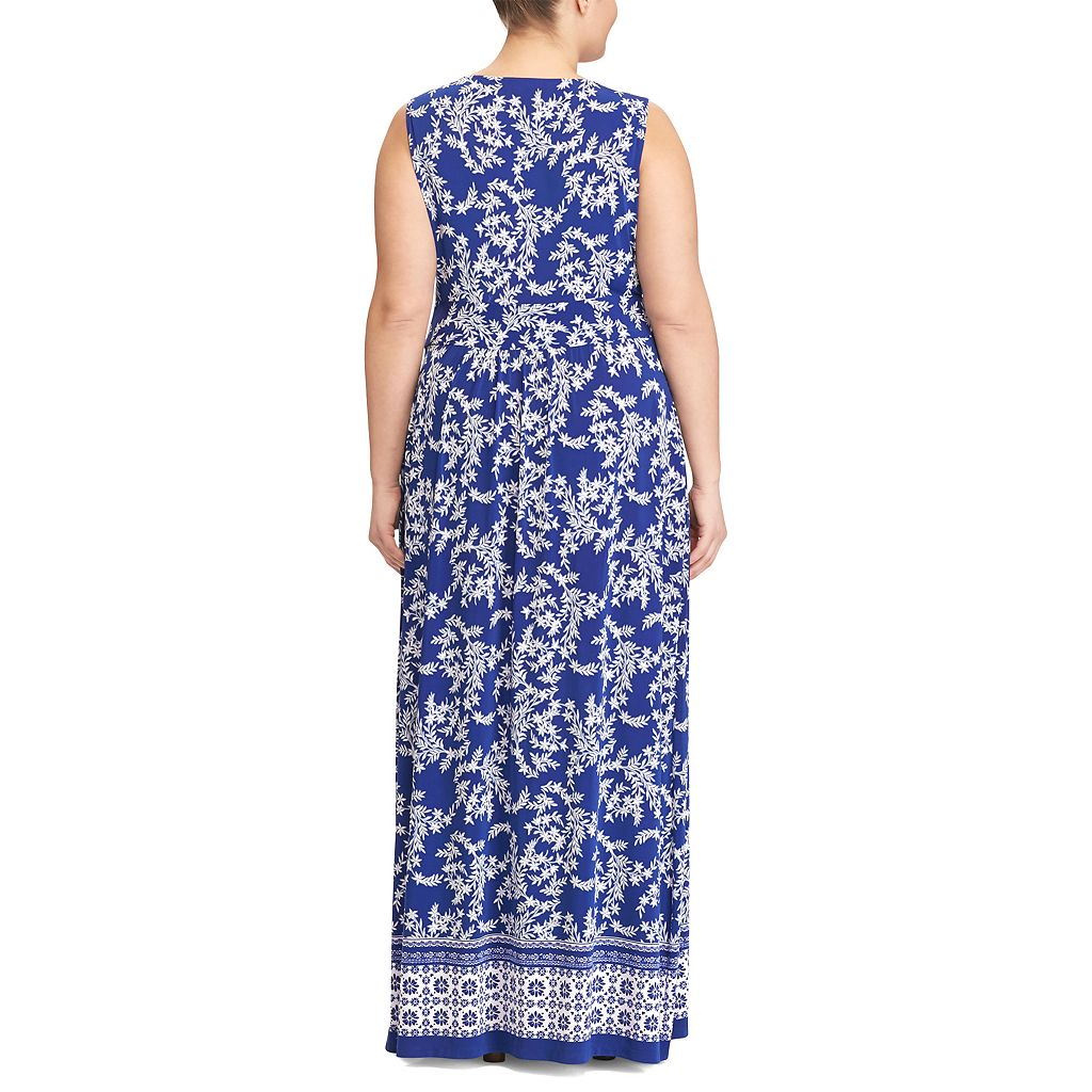 Plus Size Chaps Printed Jersey Maxi Dress