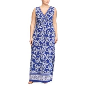 Plus Size Chaps Printed Jersey Maxi Dress