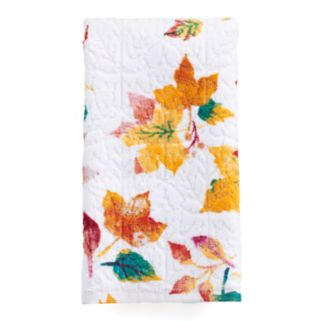 Celebrate Together Printed Leaves Fingertip Towel