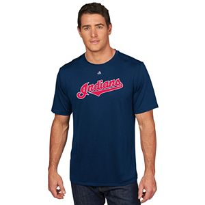 Men's Majestic Cleveland Indians Edwin Encarnacion Player Name and Number Tee