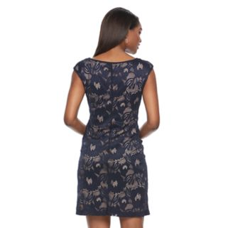 Women's Connected Apparel Lace Shift Dress