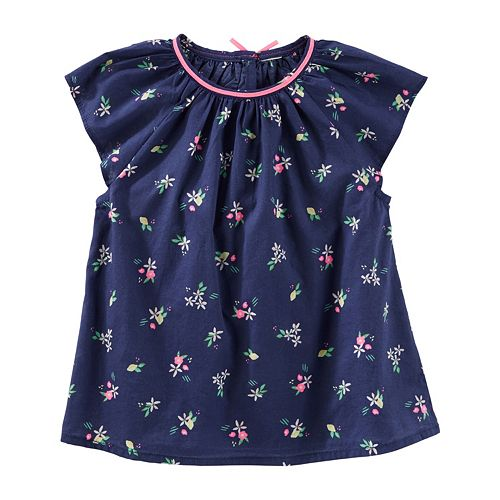 Toddler Girl OshKosh B'gosh® Patterned Poplin Top