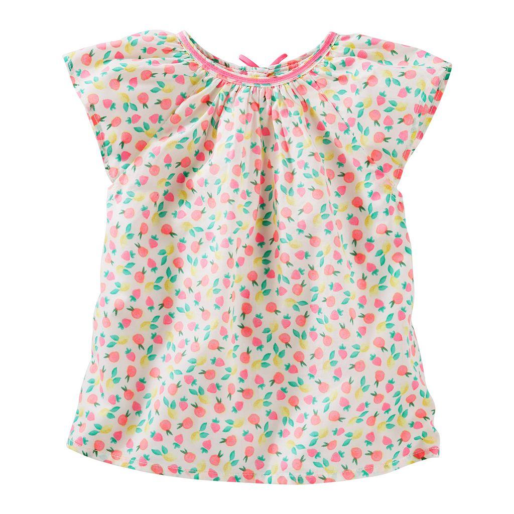 Toddler Girl OshKosh B'gosh® Patterned Poplin Top