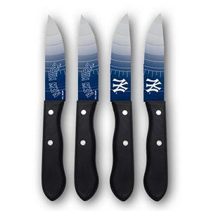 New York Yankees 4-Piece Steak Knife Set