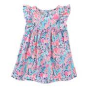 Toddler Girl OshKosh B'gosh® Flutter Short Sleeve Floral Printed Tunic