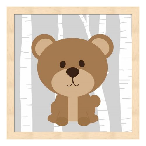 Woodland Bear Framed Wall Art