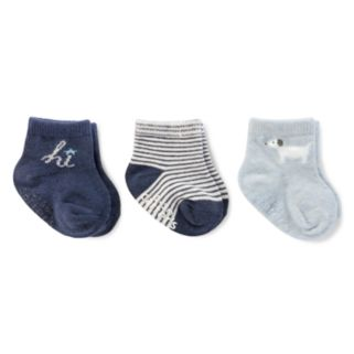"Baby Boy Carter's 3-pk. ""Hi"" Socks"