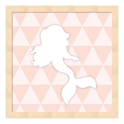 Mermaid Geometric Framed Wall Art