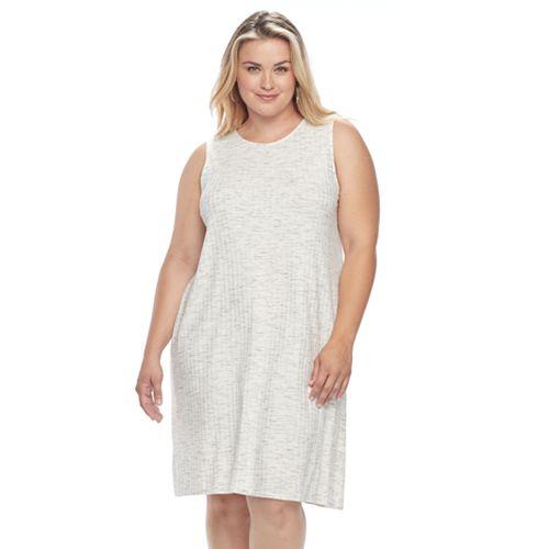 Plus Size Apt. 9® Ribbed Shift Dress