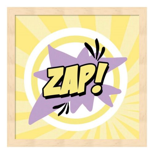 """Zap!"" Framed Wall Art"