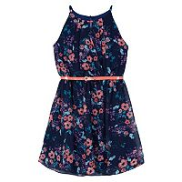 Girls 7-16 IZ Amy Byer Printed Chiffon Halter Dress