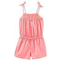 Toddler Girl OshKosh B'gosh® Orange Crochet Yoke Romper