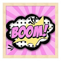 'Boom!' Framed Wall Art