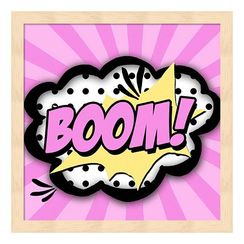 """Boom!"" Framed Wall Art"