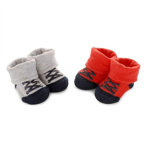 Baby Boy Carter's 2-pk. Laced Sneaker Bootie Socks