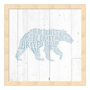 """""""Be Brave"""" Bear Framed Wall Art"""