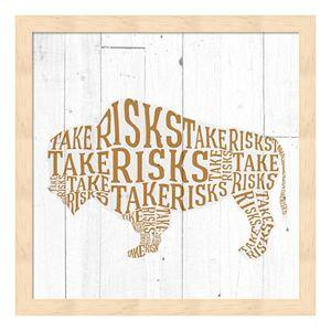 """Take Risks"" Buffalo Framed Wall Art"