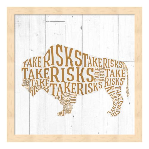 """Take Risks"" Buffalo Framed Wall Art"