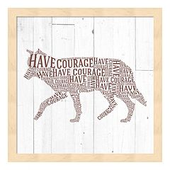 'Have Courage' Wolf Framed Wall Art