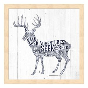 """Seek Adventures"" Deer Framed Wall Art"