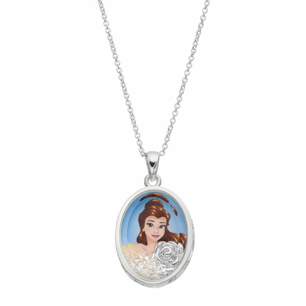Disneys beauty and the beast kids belle floating charm pendant aloadofball Image collections