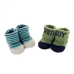 Baby Boy Carter's 2 pkStriped 'Wild Guy' Bootie Socks