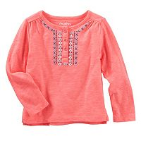 Toddler Girl OshKosh B'gosh® Tribal Puff-Print Henley Top