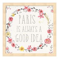 Paris Blooms IV Framed Wall Art
