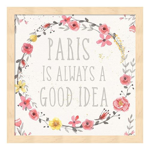 Paris Blooms IV Framed Wall Art