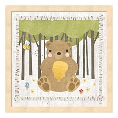 Woodland Hideaway Bear Framed Wall Art