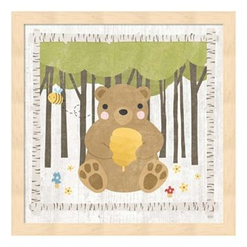 Woodland Hideaway Bear Framed Wall Art