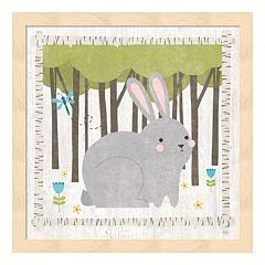 Woodland Hideaway Bunny Framed Wall Art