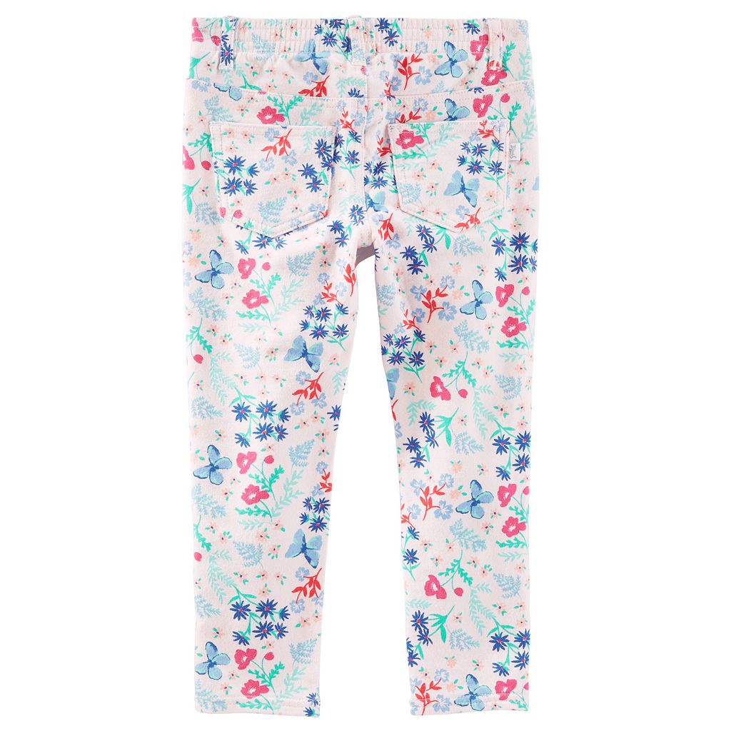Toddler Girl OshKosh B'gosh® Floral Patterned Knit Pants