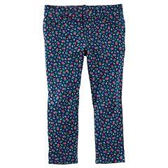 Toddler Girl OshKosh B'gosh® Floral Patterned Knit Pants