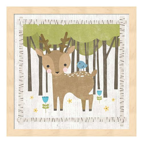 Woodland Hideaway Deer Framed Wall Art