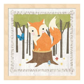 Woodland Hideaway Fox Framed Wall Art