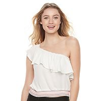 Juniors' Candie's® One Shoulder Crop Top