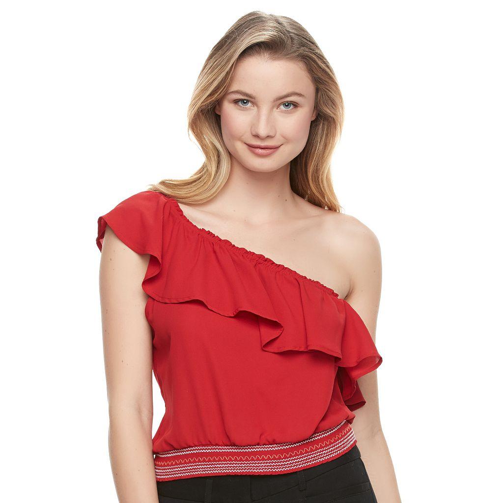 Juniors' Candie's® One Shoulder Crop Top