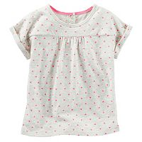 Toddler Girl OshKosh B'gosh® Roll Cuff Short Sleeve Top