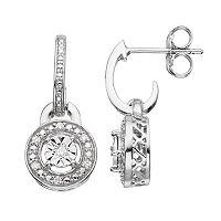 Sterling Silver Diamond Accent Drop Earrings