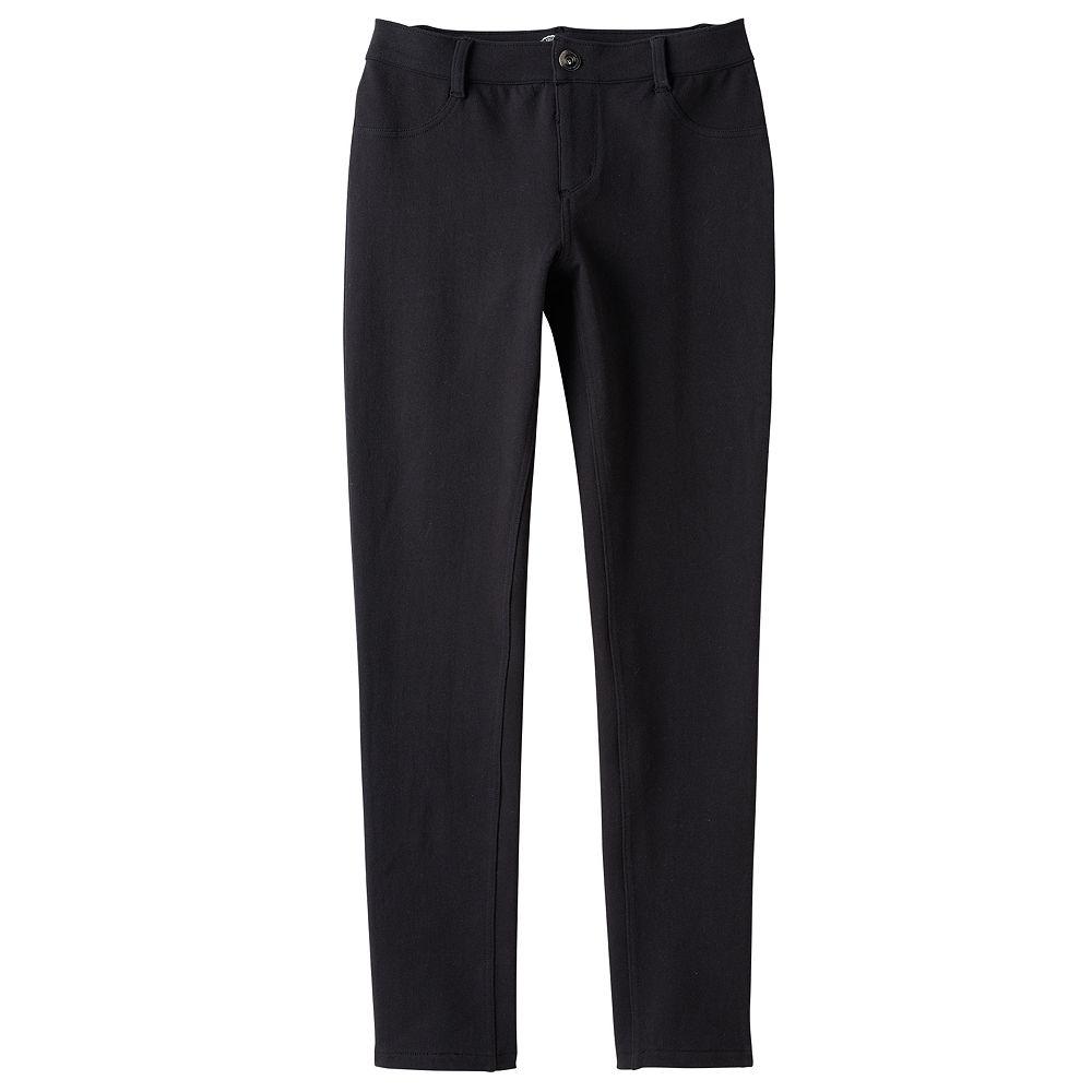 fb6588e18158c4 Girls 7-16 & Plus Size SO® Black Knit Jeggings