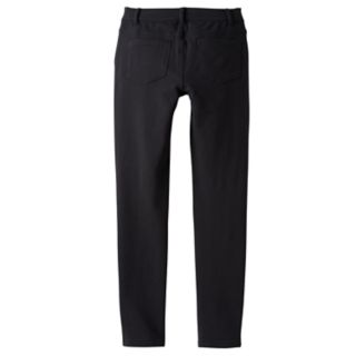 Girls 7-16 & Plus Size SO® Black Knit Jeggings